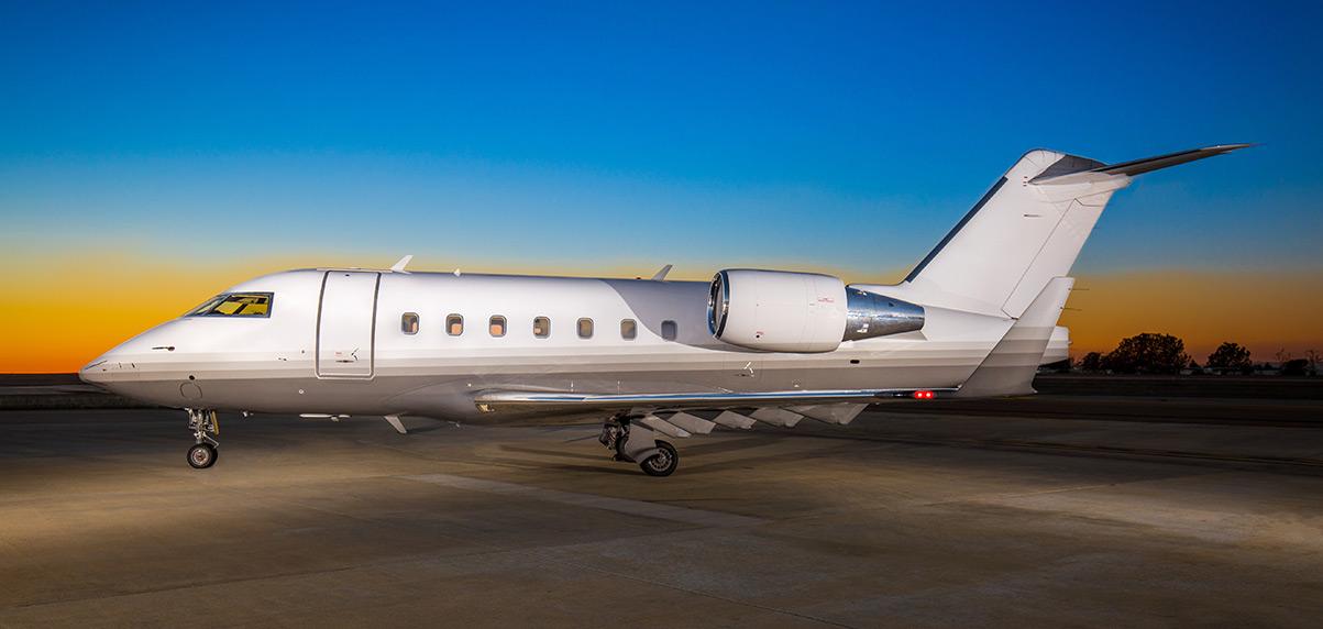 Schubach-Aviation-Challenger-601-3R-Sunset-Full