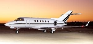 Schubach_Aviation_Hawker_800XP_Sunset