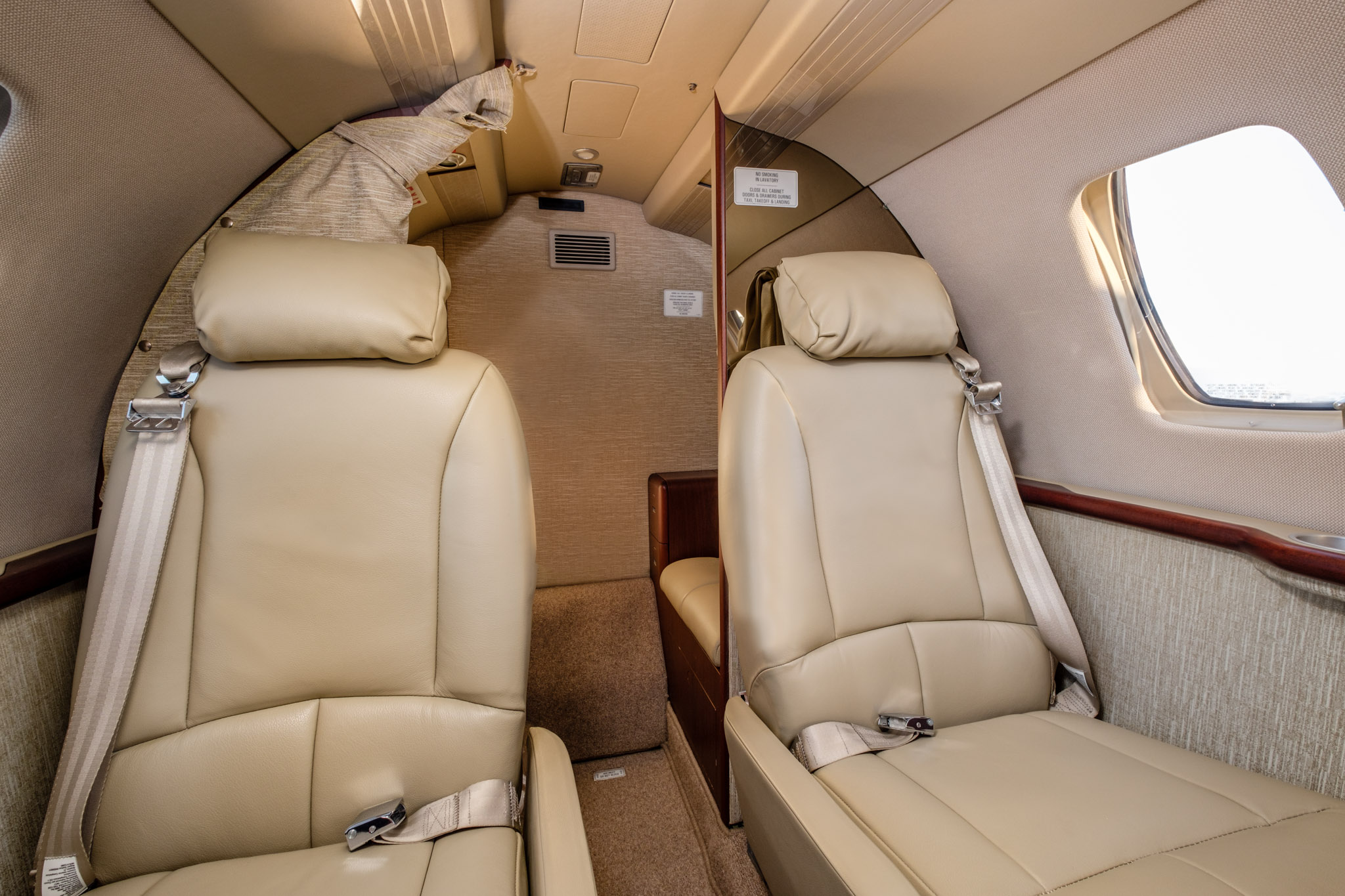 Back of Schubach Aviation private charter jet