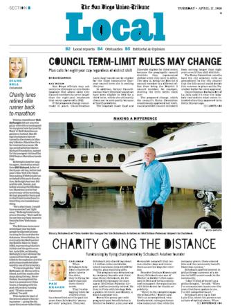 San Diego Union Tribune_Schubach Aviation_4.17.18